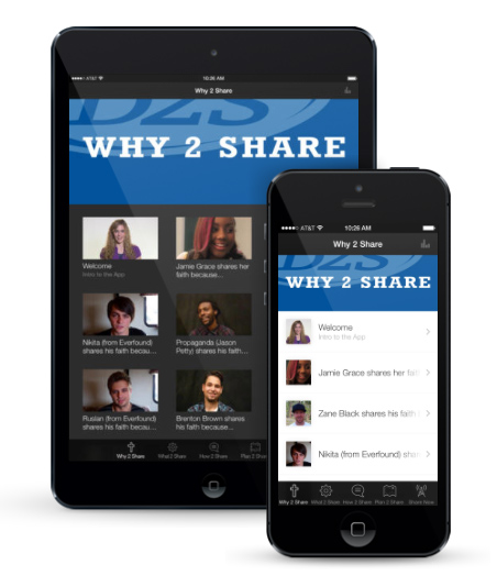 d2s app preview photo. mobile apps. christian apps. evangelism apps. christian mobile apps.